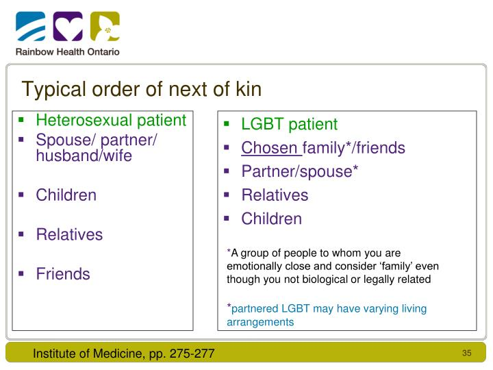 Heterosexual patient