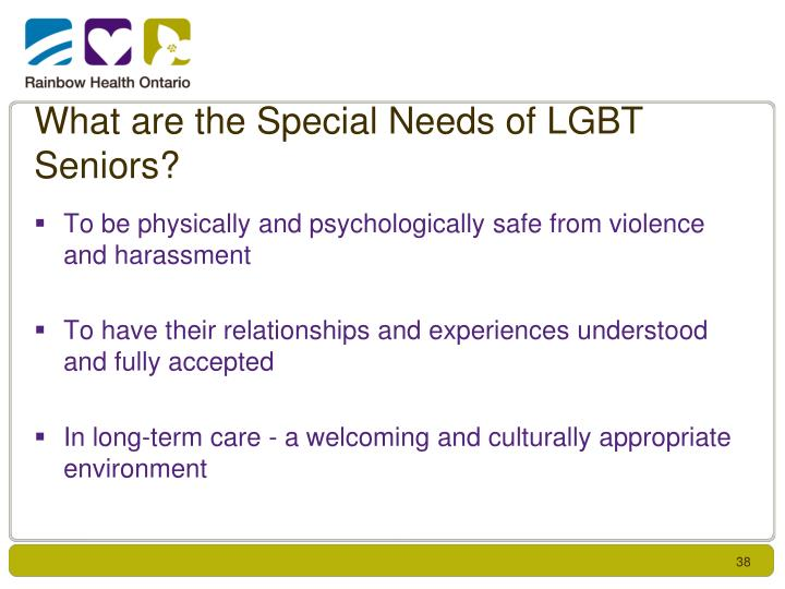 What are the Special Needs of LGBT Seniors?