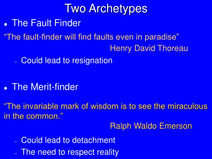 Two Archetypes