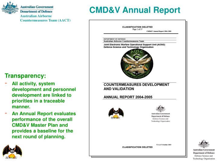 CMD&V Annual Report