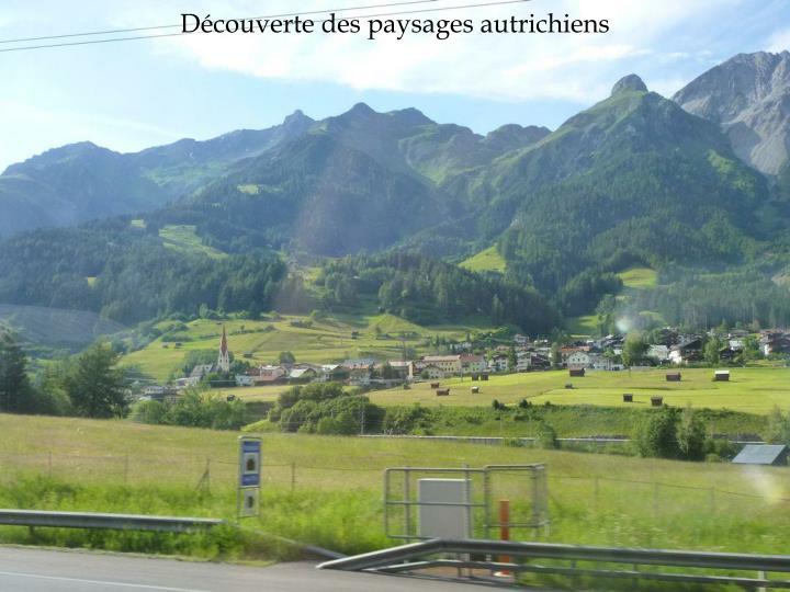 Découverte des paysages autrichiens