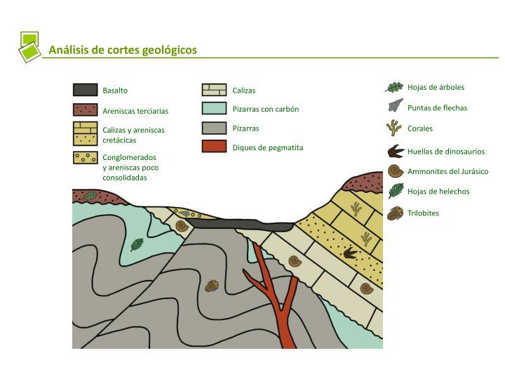 Análisis de cortes geológicos