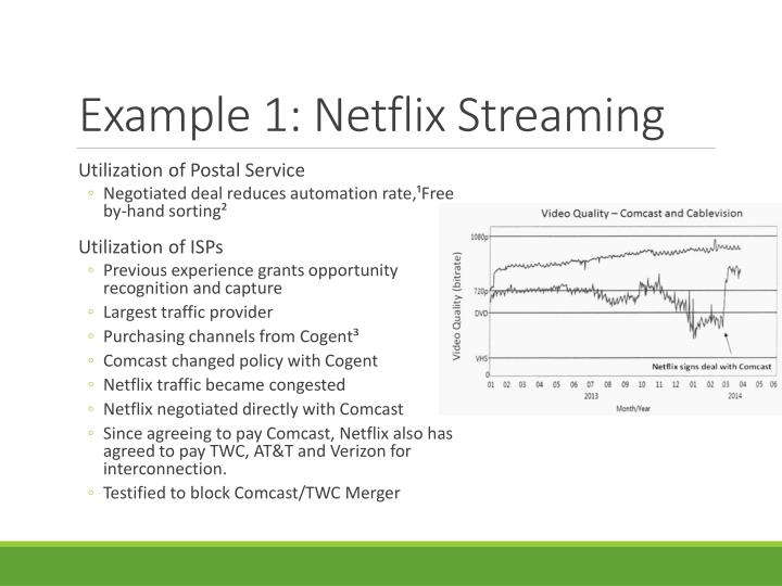 Example 1: Netflix Streaming