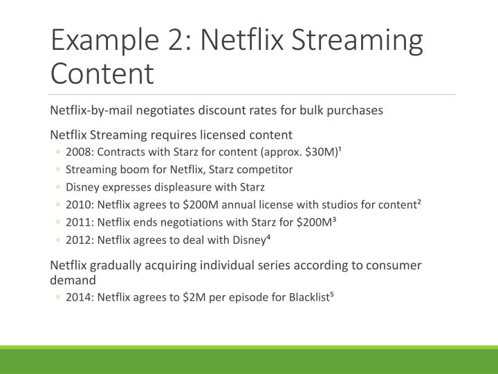 Example 2: Netflix Streaming Content
