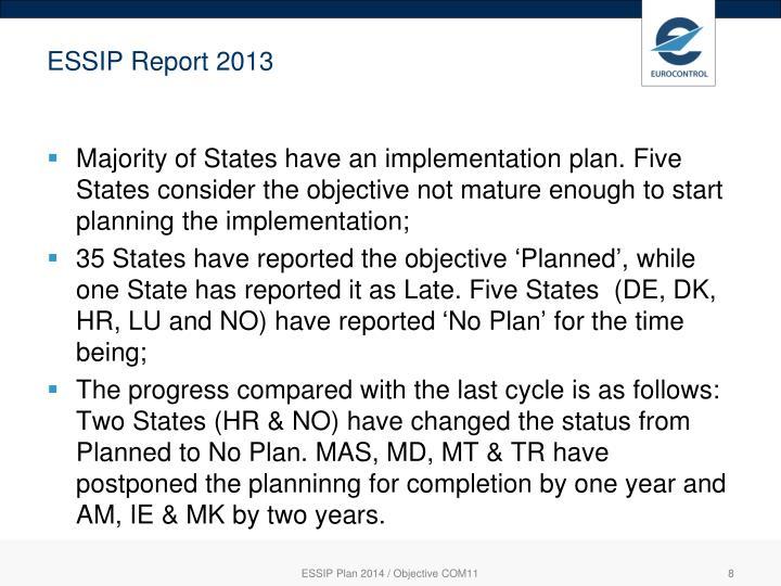ESSIP Report 2013