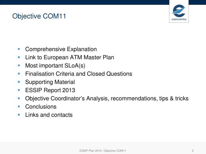 Objective COM11