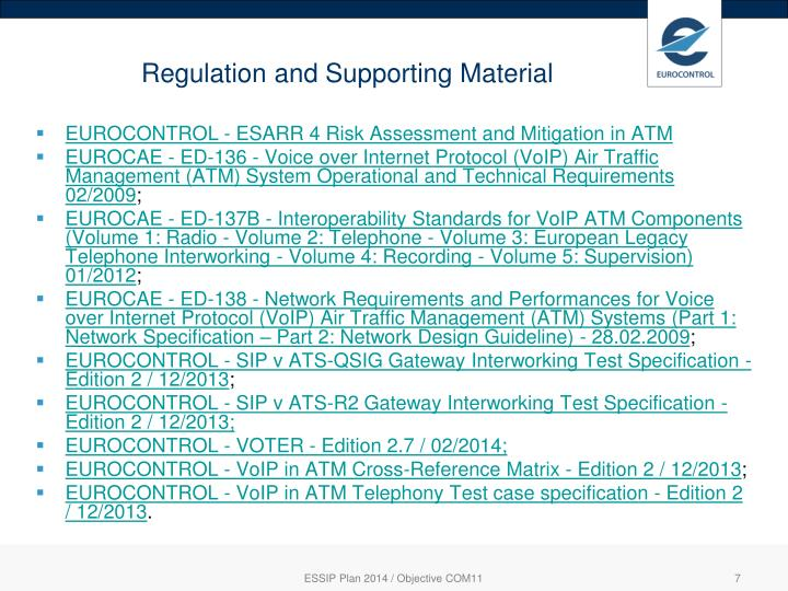 Regulation and Supporting Material