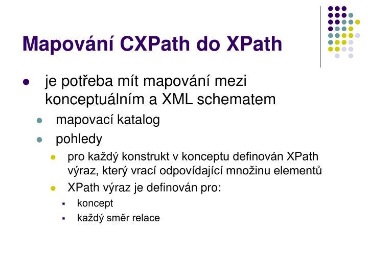 Mapování CXPath