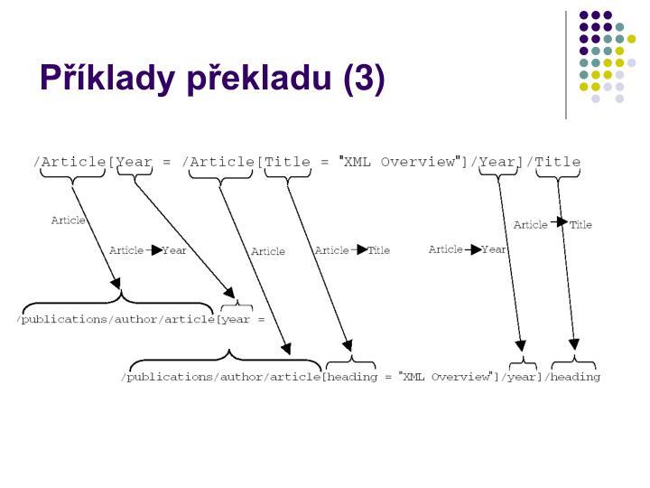 Příklady překladu (