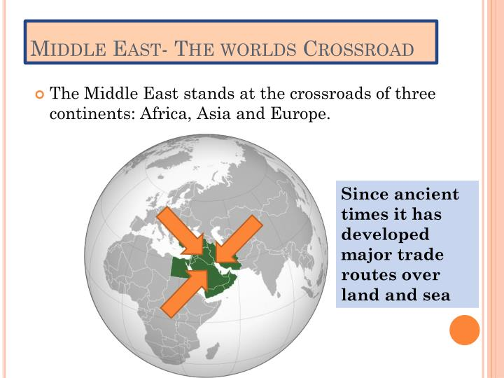 Middle East- The worlds Crossroad