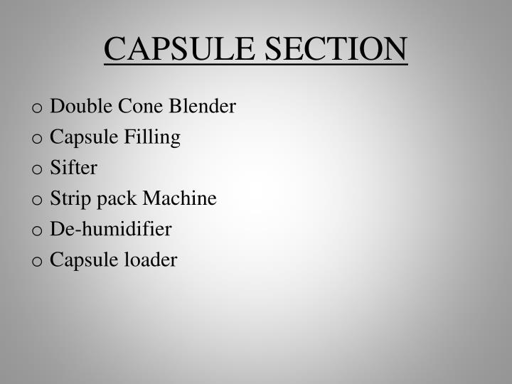 CAPSULE SECTION