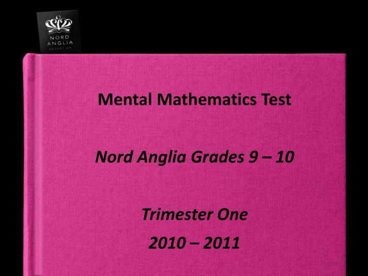 Mental Mathematics Test