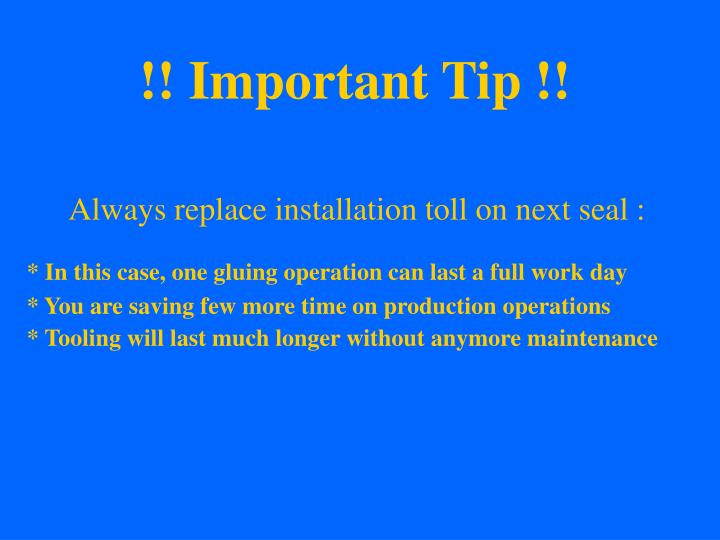 !! Important Tip !!