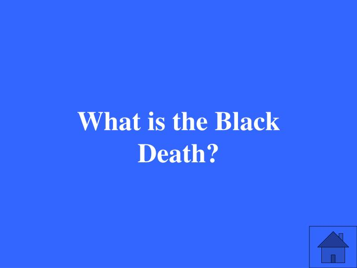What is the Black Death?