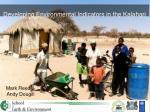 developing environmental indicators in the kalahari