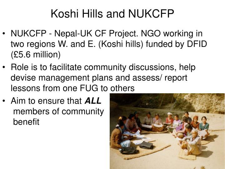 Koshi Hills and NUKCFP