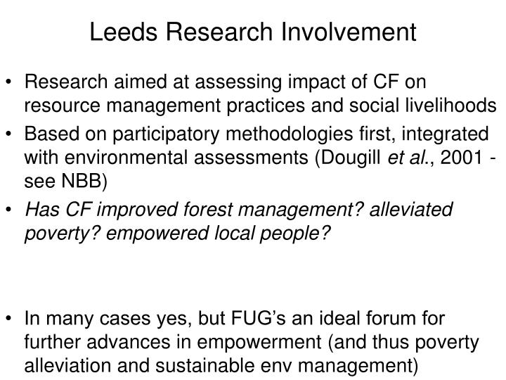 Leeds Research Involvement