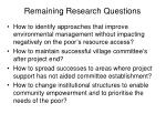 remaining research questions