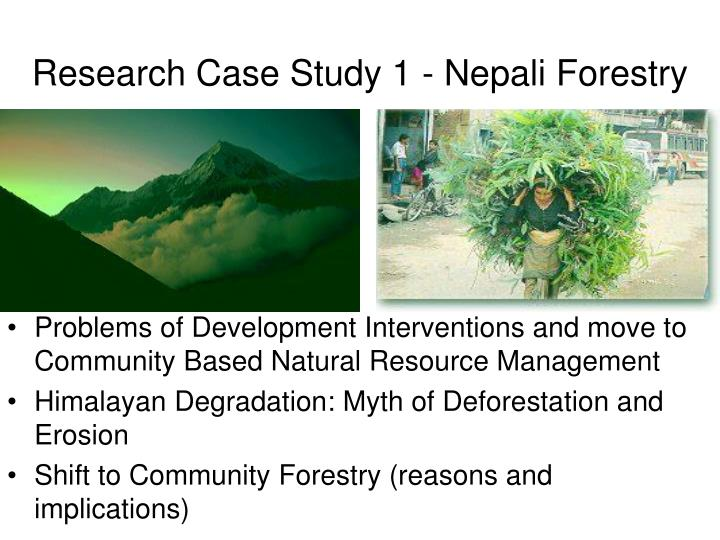 Research Case Study 1 - Nepali Forestry