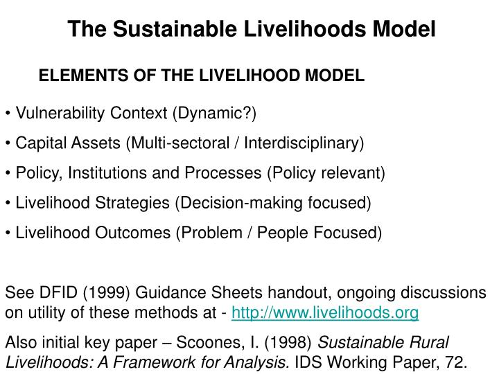 The Sustainable Livelihoods Model