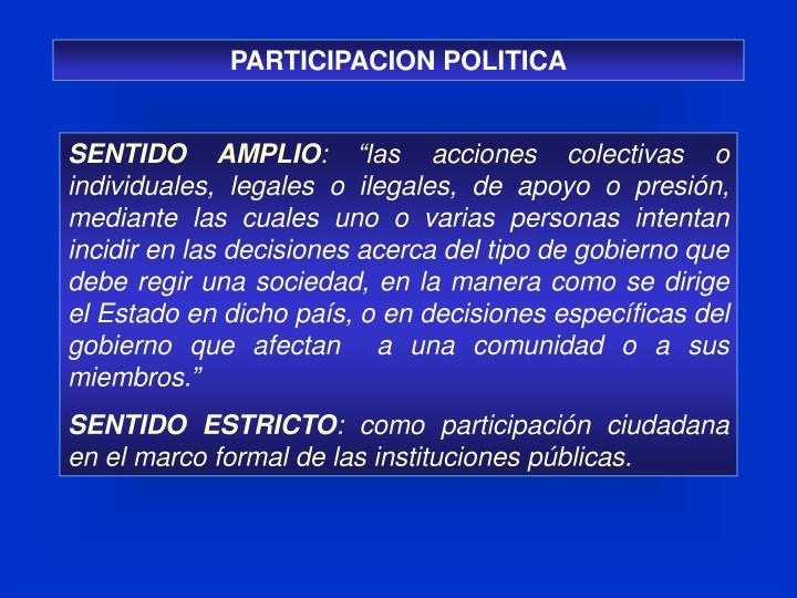 PARTICIPACION POLITICA