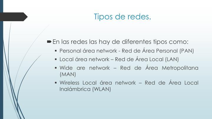 Tipos de redes.