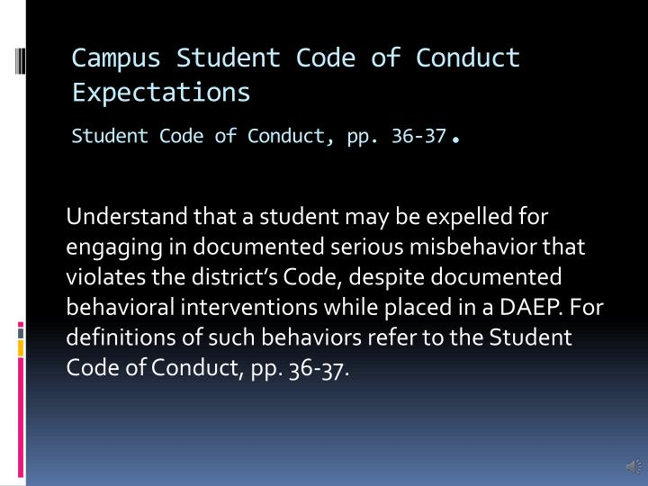 Campus Student Code of Conduct