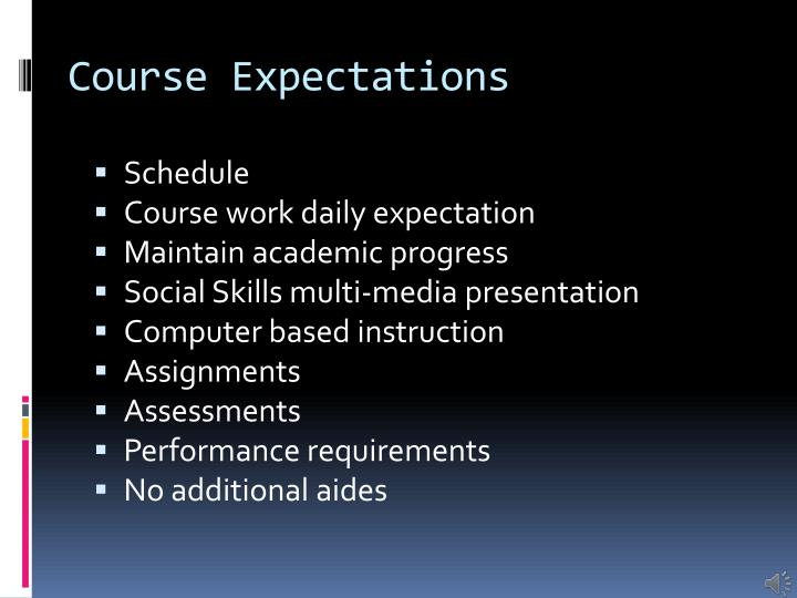 Course Expectations
