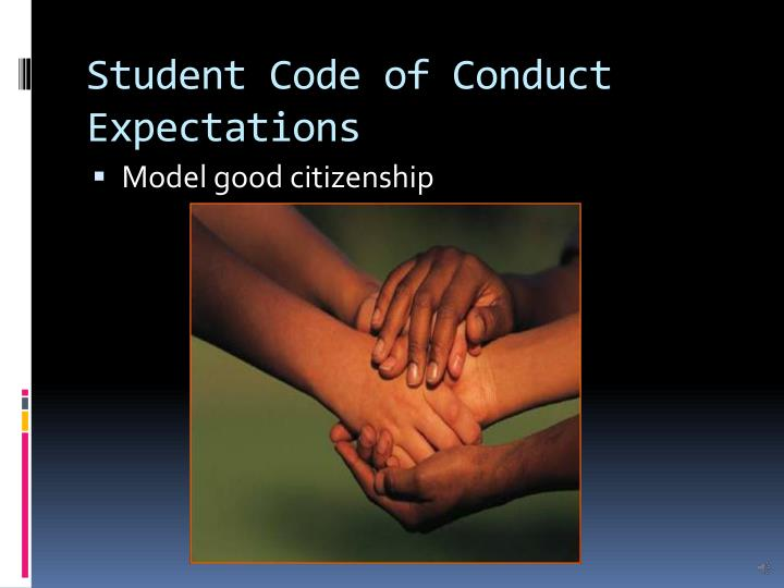 Student Code of Conduct Expectations