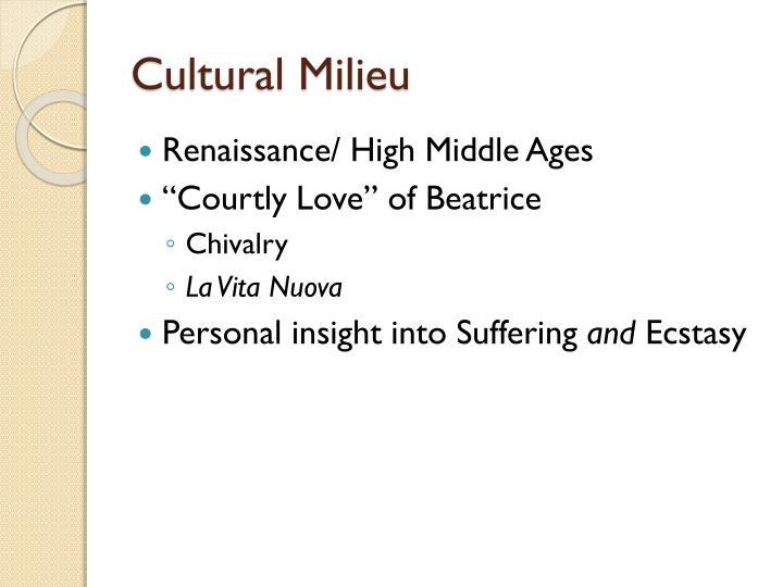 Cultural Milieu