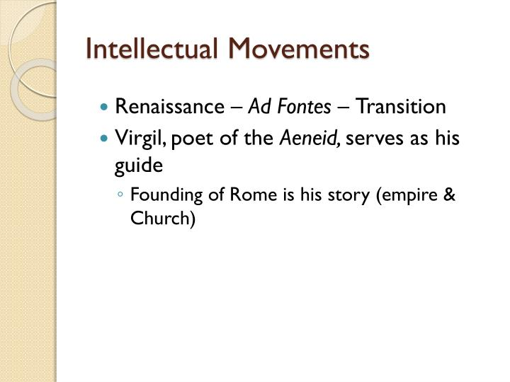 Intellectual Movements