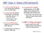 arp case 1 same lan network