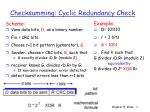 checksumming cyclic redundancy check