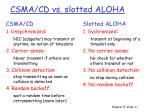 csma cd vs slotted aloha