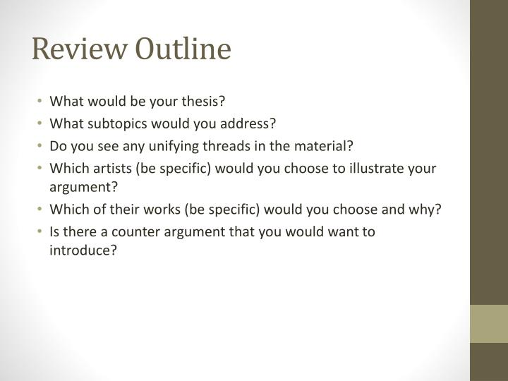 Review Outline