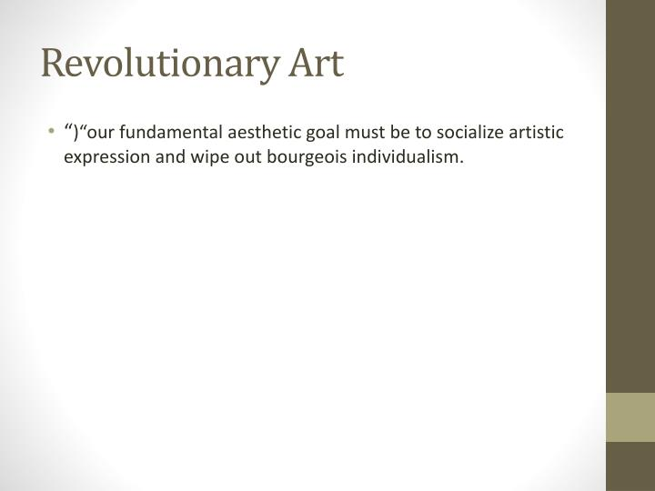 Revolutionary Art