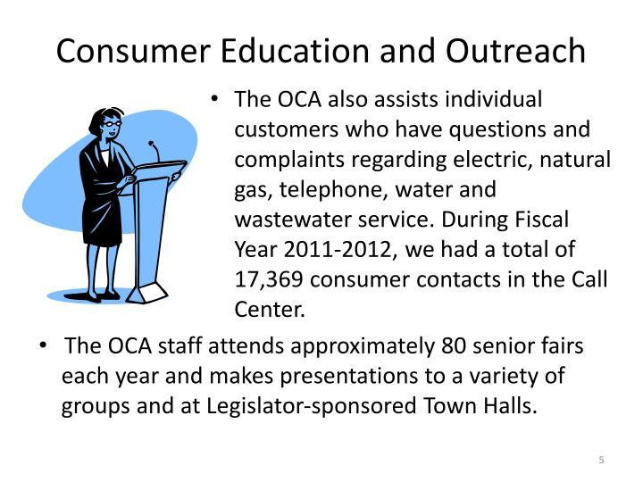 Consumer Education and Outreach