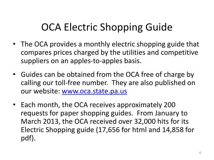 OCA Electric Shopping Guide