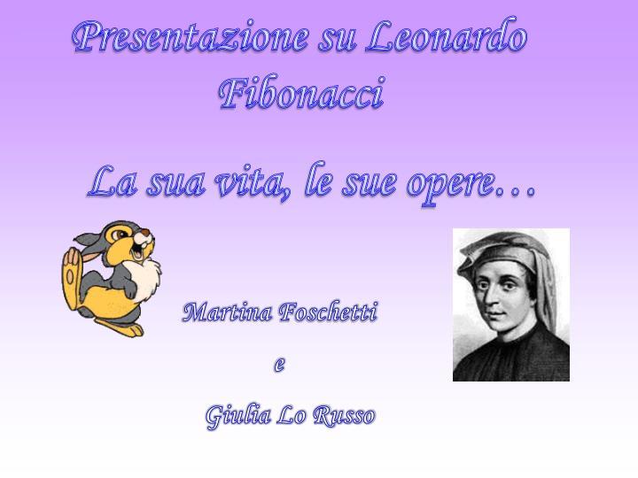 Presentazione su Leonardo Fibonacci