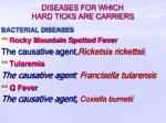 diseases for which hard ticks are carriers