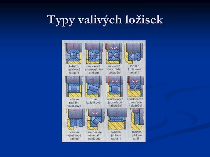 Typy valivých ložisek