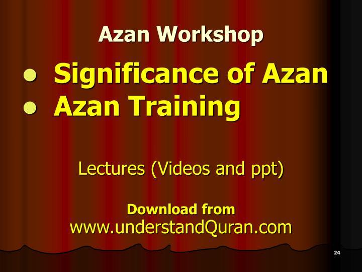 Azan Workshop