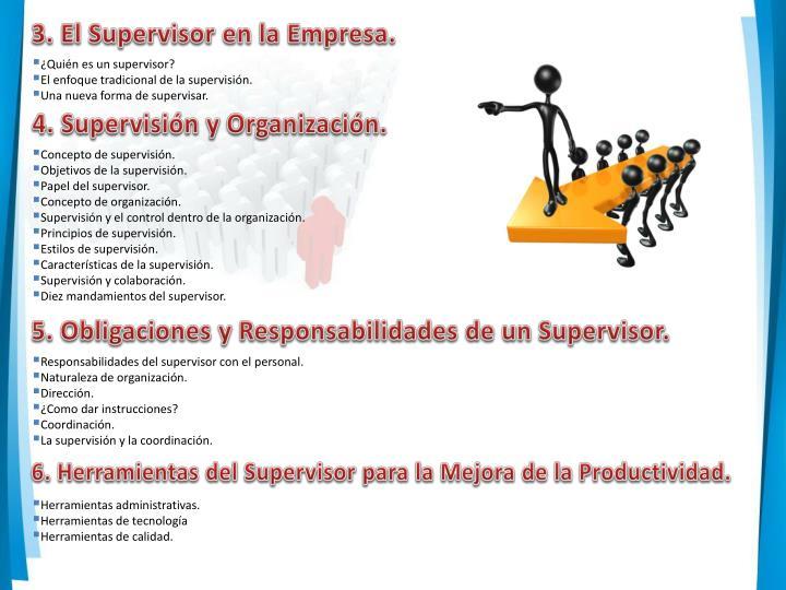 3. El Supervisor en la Empresa.