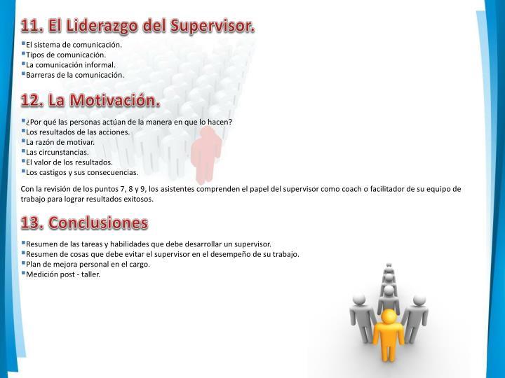 11. El Liderazgo del Supervisor.