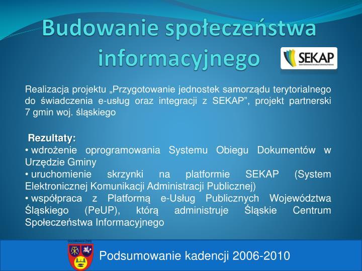 Budowanie społeczeństwa informacyjnego