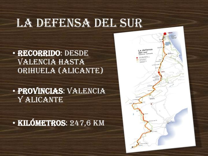 La defensa del sur