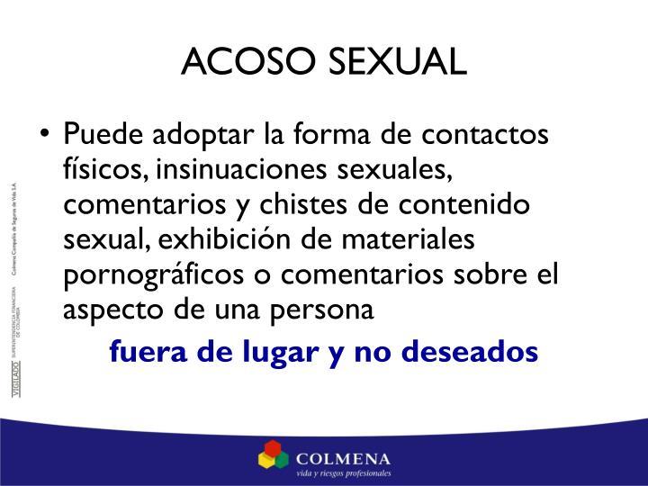 ACOSO SEXUAL