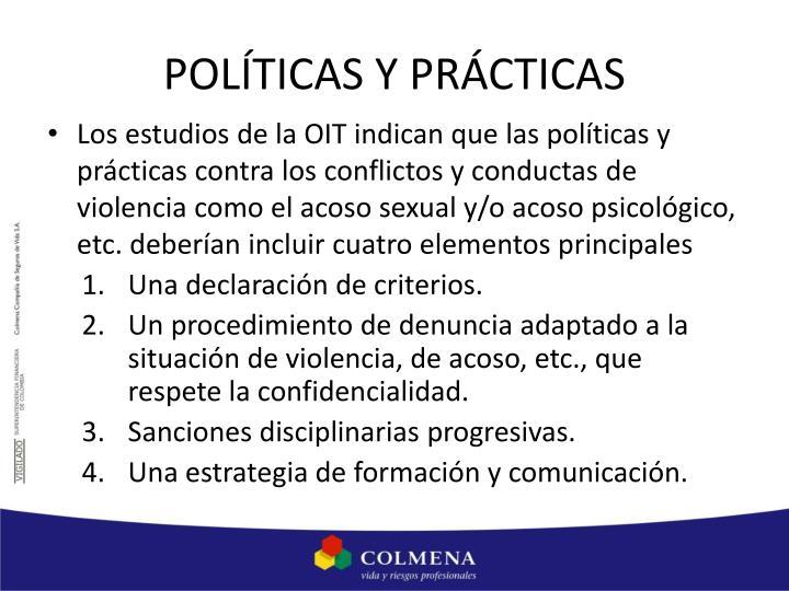 POLÍTICAS Y PRÁCTICAS