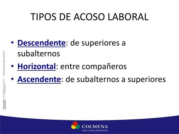 TIPOS DE ACOSO LABORAL