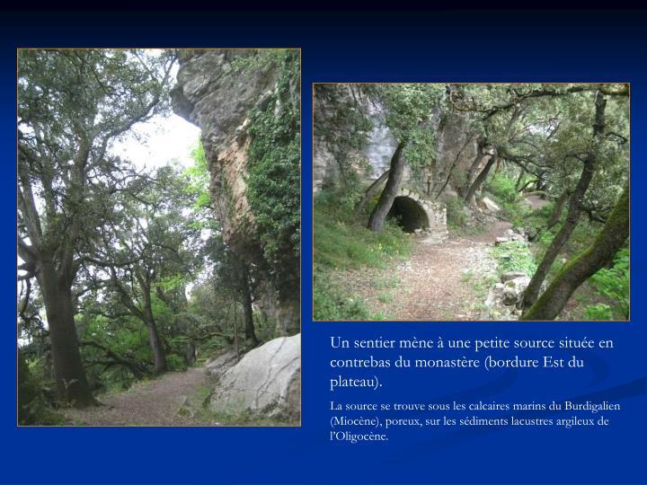 Un sentier mène à une petite source située en contrebas du monastère (bordure Est du plateau).